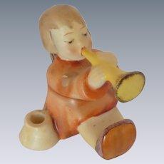 M. I. Hummel Angel Horn/ Trumpet Candleholder