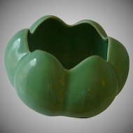 Green Tulip Pottery Flower Bowl