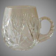 Clear Crystal Beer Stein Tankard Mug