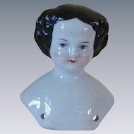 Porcelain China Doll Head and Shoulders