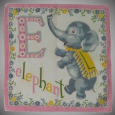 E for Elephant Child's Handkerchief