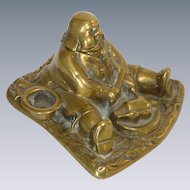 1920's Brass Figural Man Inkwell