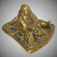 1920's Brass Figural Man Inkwell