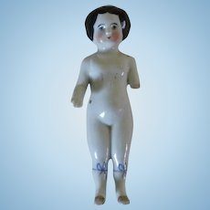 Old White Porcelain Ceramic Doll