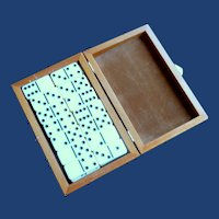 Set of Dominoes in Wood Box