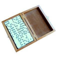 Set of Dominoes in Wood Box