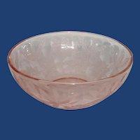 Jeannette Poinsettia Pink Depression Sunflower Pattern  Bowl