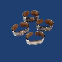 Silver Plated Ricci Argentieri Napkin Rings