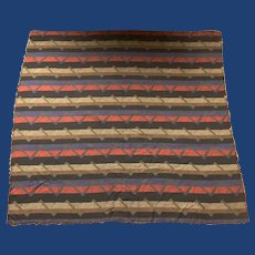Great Reversible Brown, Blue, Red, Cotton/Wool Scarf