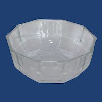Heavy Optic Clear Glass Serving Salad Fruit Bowl