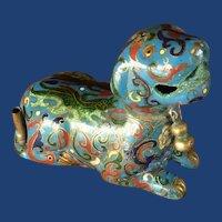 Asian Chinese Foo Dog Cloisonné