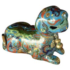 Asian Chinese Foo Dog Cloisonné