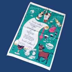 Recipe of Irish Coffee Souvenir Tea Towel