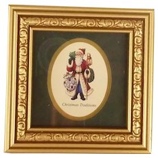 Small Framed Picture of Christmas Traditions Santa Claus