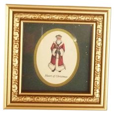 Small Framed Picture of Heart of Christmas Santa Claus