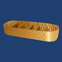 Yellow Gold Quilted Fabric Lingerie Drawer Tray