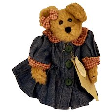 Bonnie in Blue Boyds Bear with Original Tags