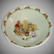 Royal Doulton Watching Television Bowl Bunnykins