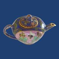 Miniature Asian Cloisonné CloisonneTea Coffee Pot