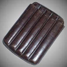 Leather Cigar Holder for Pocket or Sport Coat