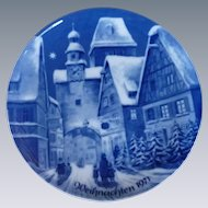 Weihnachten Christmas Collector Plate 1971