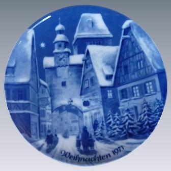 Weihnachten Christmas Collector Plate 1971