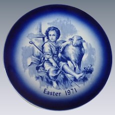 Easter Day Blue Collector Plate 1971