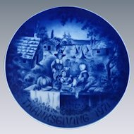 Thanksgiving Blue Collector Plate 1971