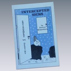 Astrology Intercepted Signs by Joanne Wickenburg Book