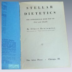 Stellar Dietetics Astrology Book 1942