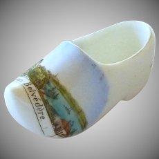 Dutch Souvenir China Porcelain Shoe