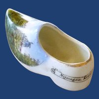 Dutch Souvenir China Porcelain Shoe