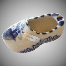 Souvenir Solvang, CA Ceramic China Delft  Ashtray