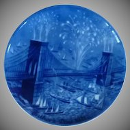 Father's Day Collector Plate Brooklyn Bridge 1971
