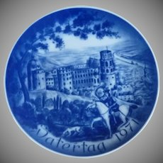 Father's Day Collector Plate 1971 Castle Heidelberg