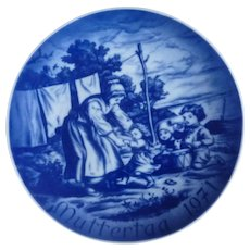 Mother's Day Collector Plate 1971 Mama and Children