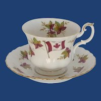 Royal Albert Canada Maple Leaf Tea Cup and Saucer
