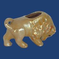 Bison Buffalo Lusterware Pin Cushion Japan