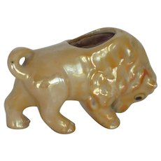 Bison Buffalo Lusterware Pin Cushion Japan