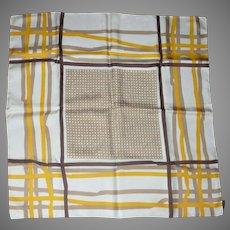 100% Silk Italian Geometric Scarf