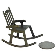 Metal Doll House Rocking Chair