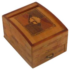 Wood Japanese Cigarette Roll Top Box