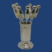 Hors D'oeuvre Stainless Steel Mid Century Set