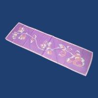 Rayon Purple Peach Long Scarf