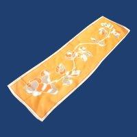 Rayon Orange Yellow Long Scarf