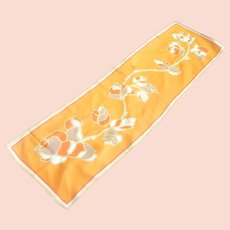 Rayon Orange Yellow Long Scarf