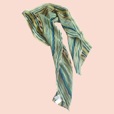 Talbot Crinkle Pleated  Long Scarf