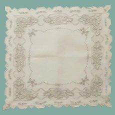 Beautiful Wedding Handkerchief Hanky Off White