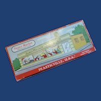 Plasticville Super Market Complete Unglued with Original Box