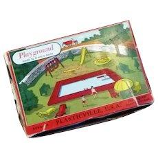 Plasticville Playground Complete unglued with Original Box